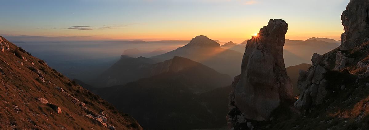 coucher de soleil à la Dent de Crolles