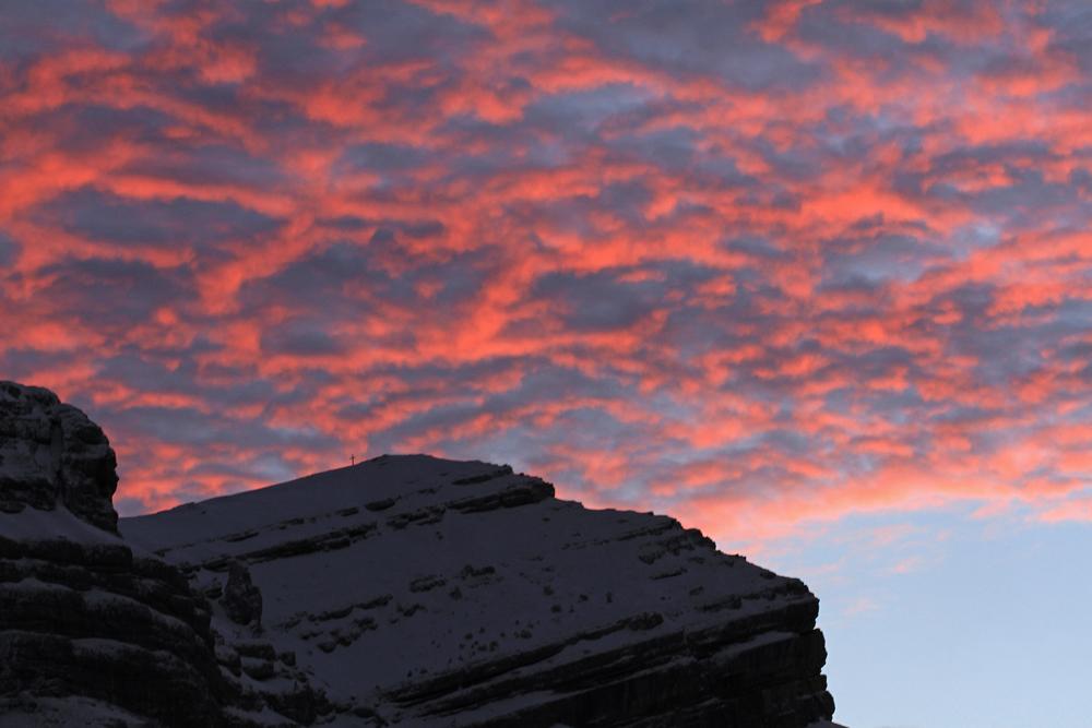 ciel de feu en Chartreuse