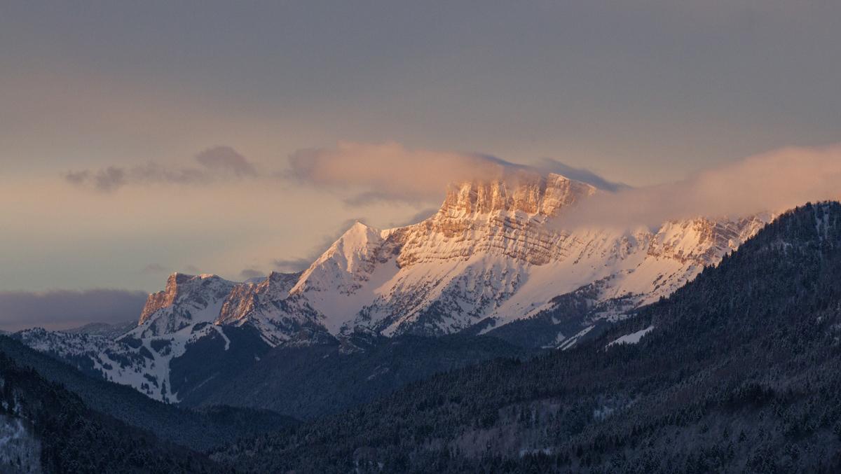 lever de soleil sur le Vercorse