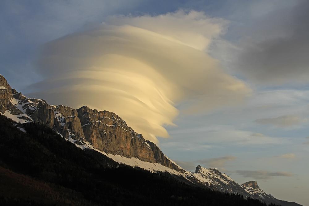 nuage et faune du vercors...