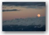 Pleine lune depuis le Moucherotte