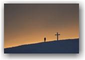 Arrivée à la croix de la Dent de Crolles